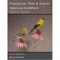 Painting the Male & Female American Goldfinch