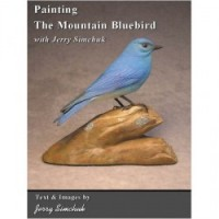 Painting the Mountain Bluebird Male