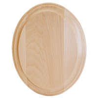 Wide Edge Oval Plaque